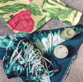 Mårdapåsar för förvaring av badkläder och tvål